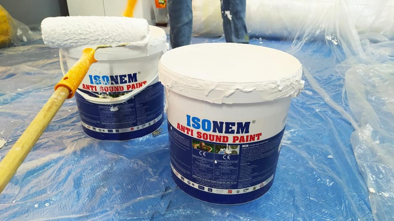 ISONEM ANTI SOUND PAINT Application Photos