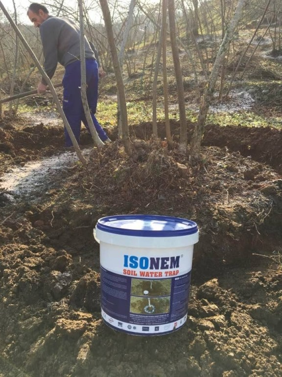 ISONEM SOIL WATER TRAP Application Photos