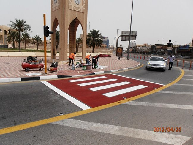 ISONEM ASPHALT PAINT APPLICATION - SAUDI ARABIA